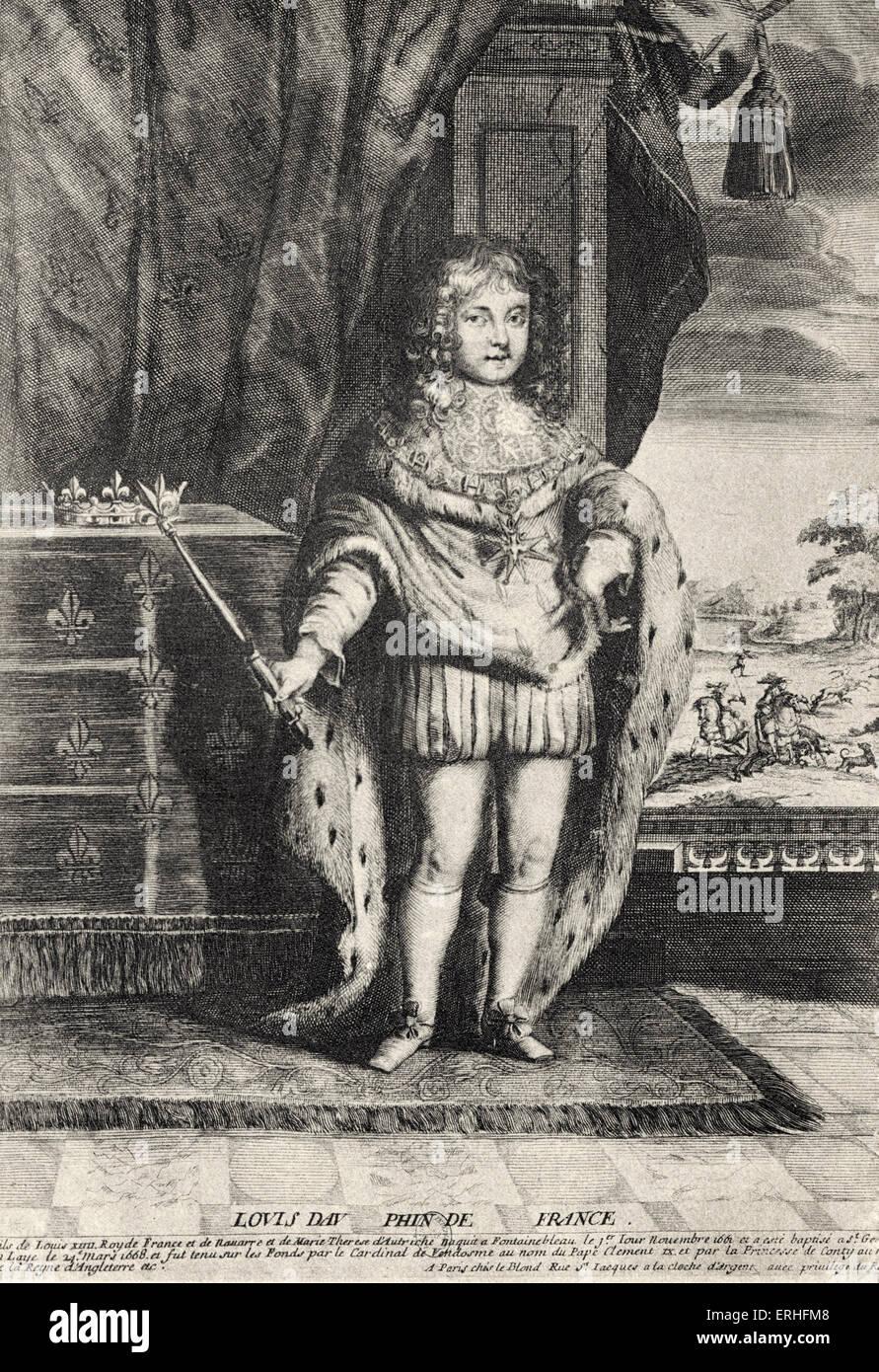 Le Grand Dauphin, Louis de France - portrait du fils du monarque français (Louis XIV, roi Soleil Roi Soleil) et Banque D'Images