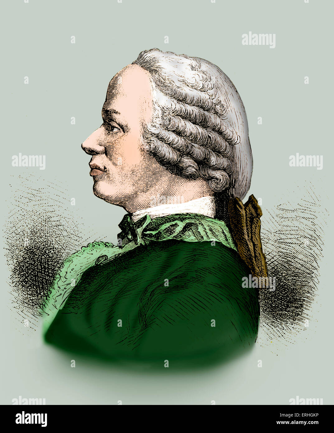Jean Le Rond D'Alembert - portrait du mathématicien, physicien et philosophe. 16 novembre 1717 - 29 octobre Photo Stock