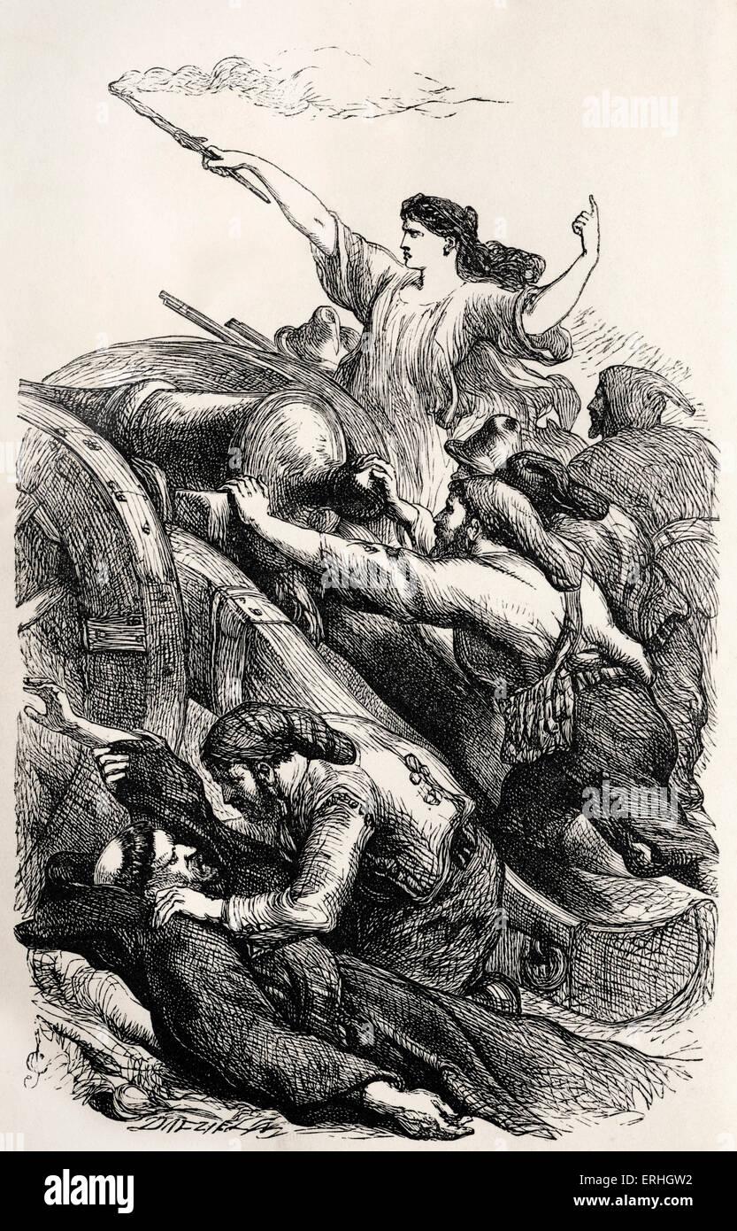 George Gordon Byron Lord Byron Illustration Dune Scène