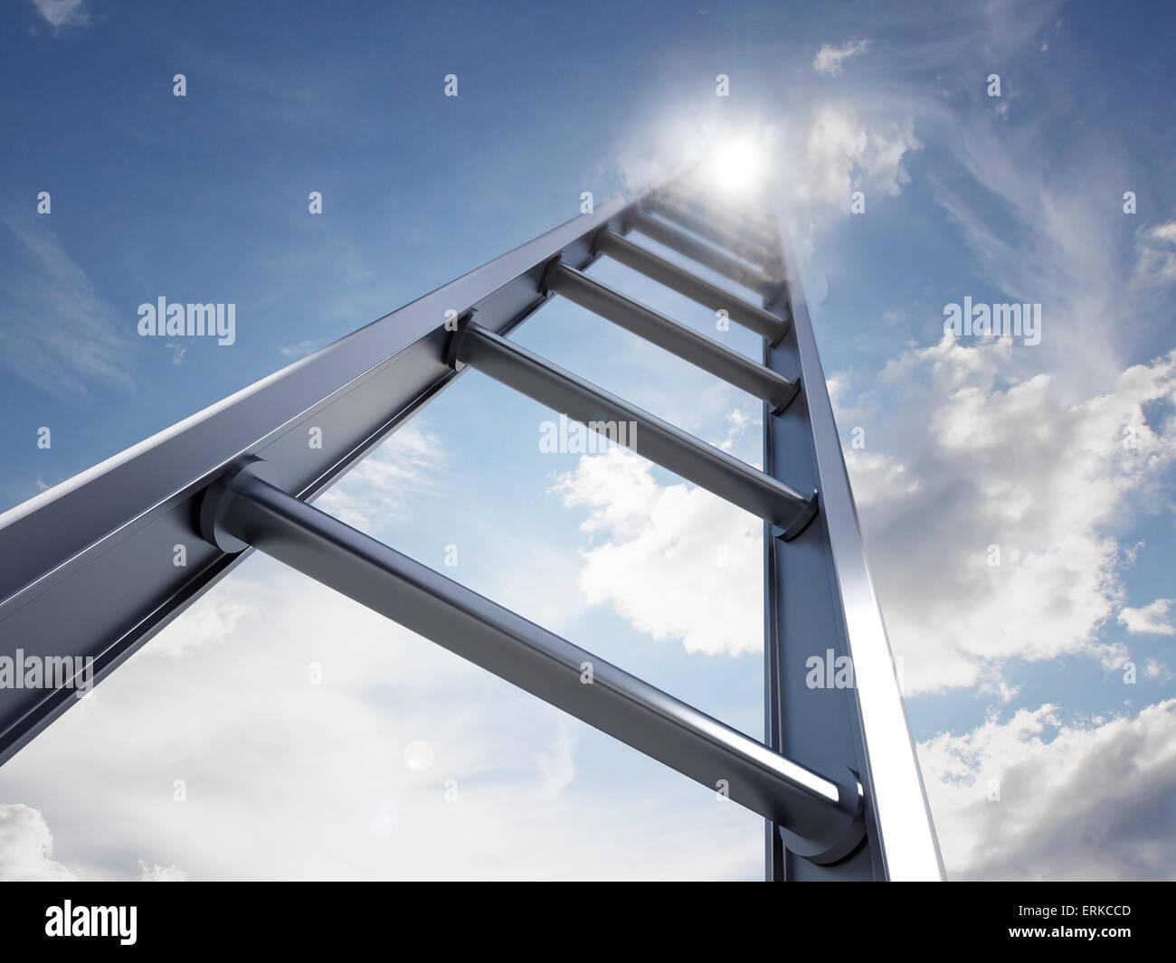 Échelle d'accès à l'ciel Photo Stock