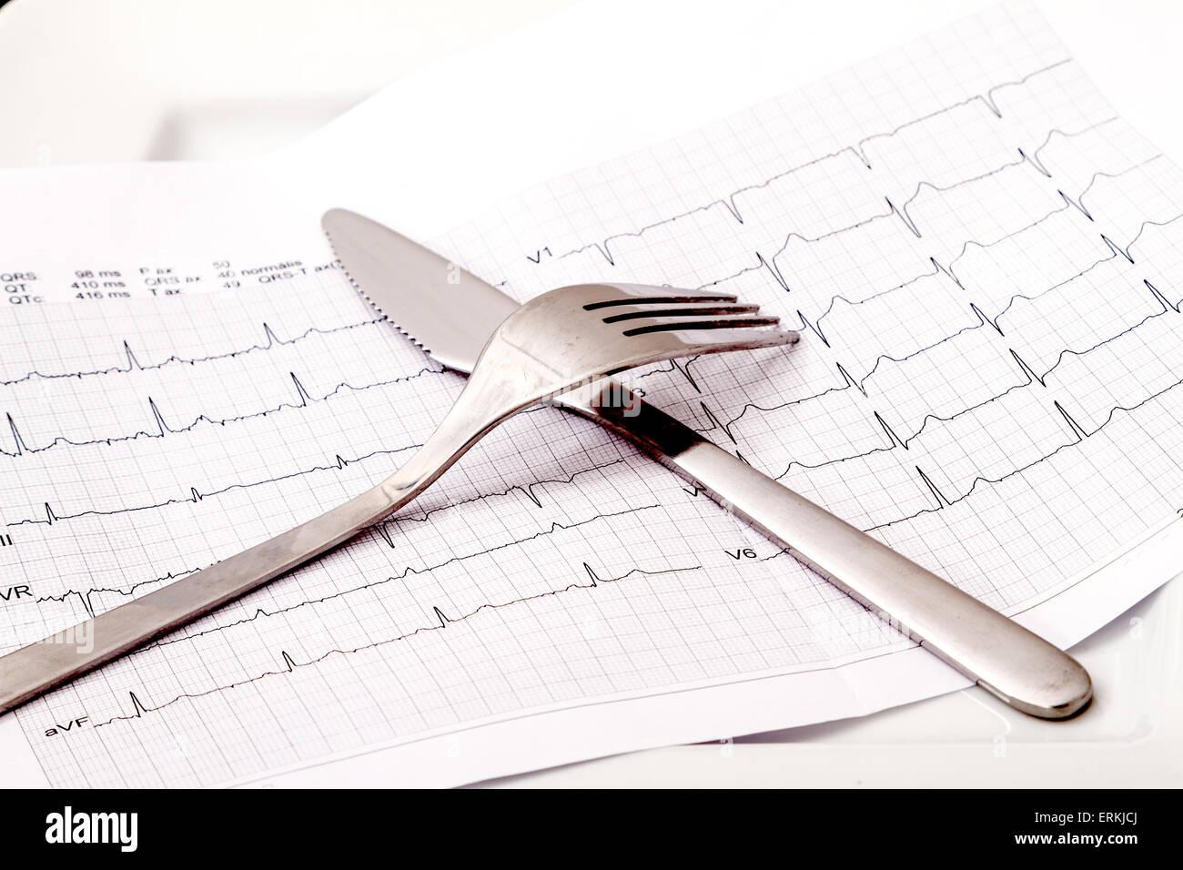 Alimentation saine, contre les maladies du cœur Photo Stock