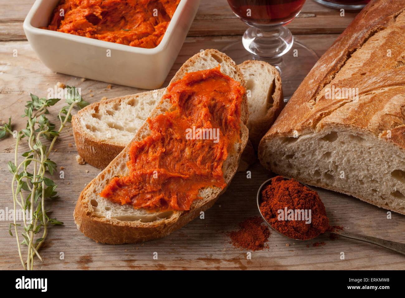 Propagation de la viande de la Méditerranée Photo Stock