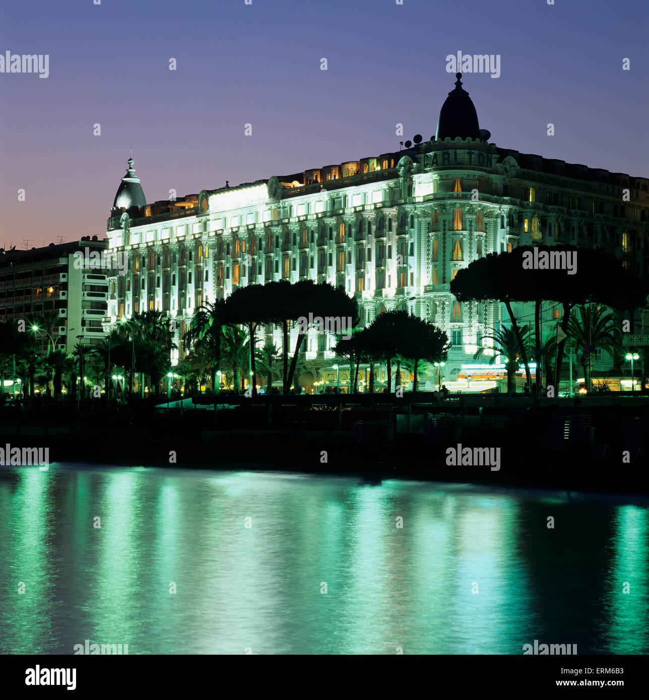 Carlton Hotel de nuit, Cannes, Provence (Cotes d Azur), France 0b59a44ac3a