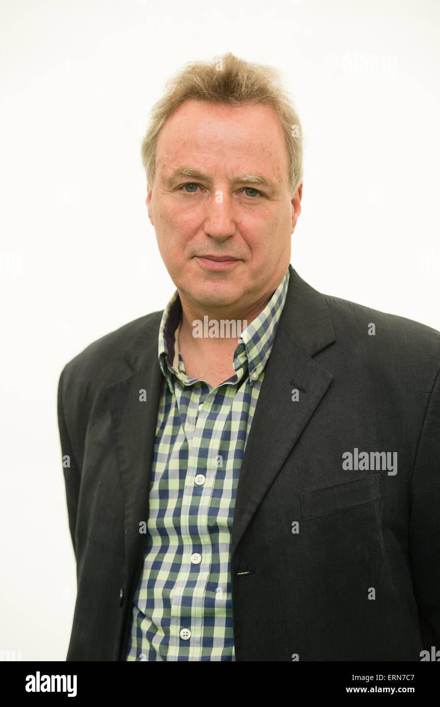SIMON SZRETER, historien de l'économie universitaire et activiste, au festival de littérature de Hay, Photo Stock