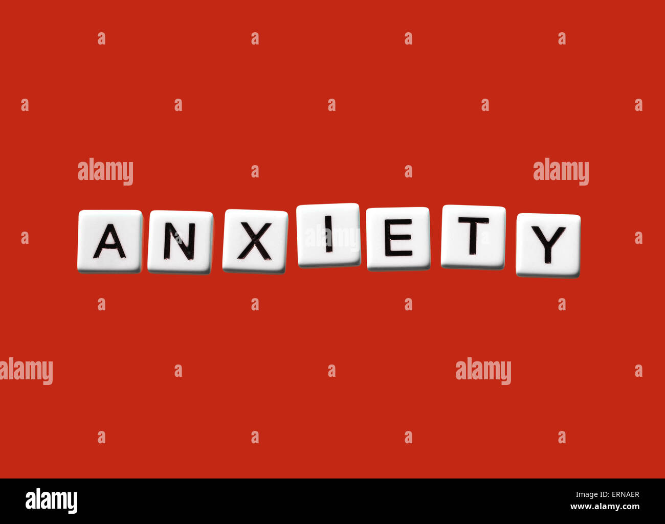 L'anxiété en surbrillance sur blocs blancs Photo Stock
