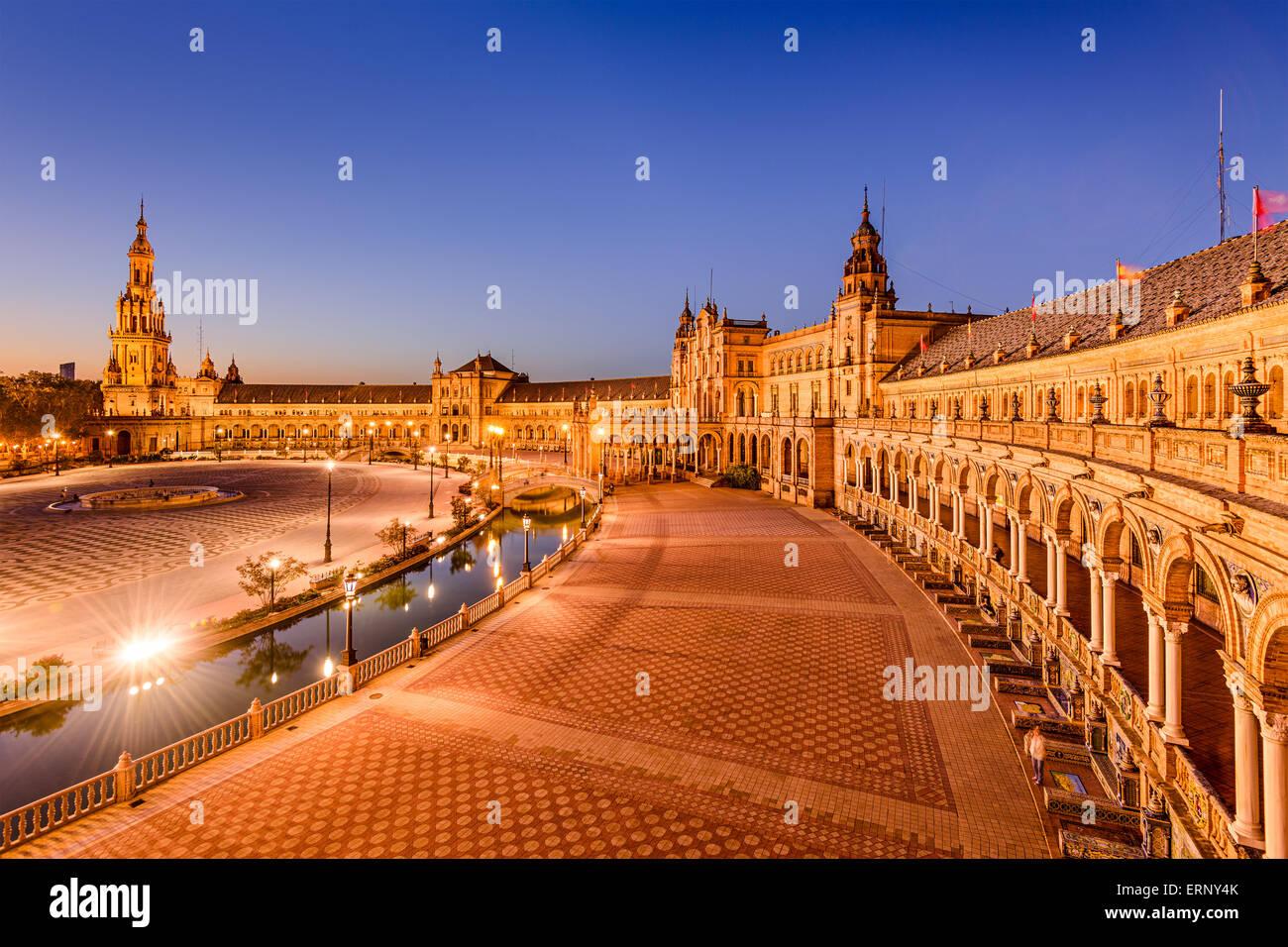 Séville, Espagne à Plaza de Espana. Photo Stock