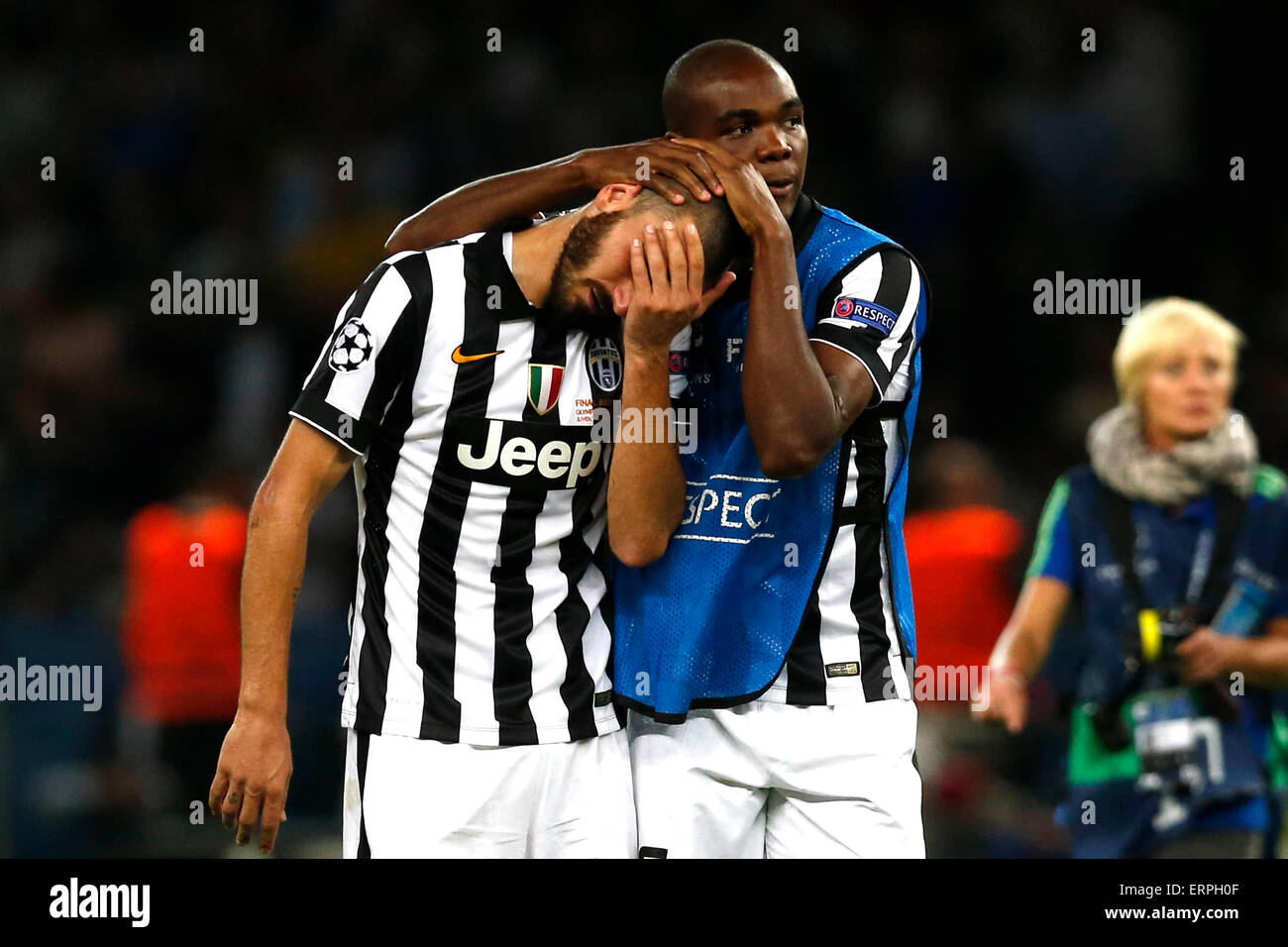Berlin (Allemagne). 06 juin 2015. Football / Soccer : Ligue des Champions - La Juventus en finale contre Barcelone Photo Stock