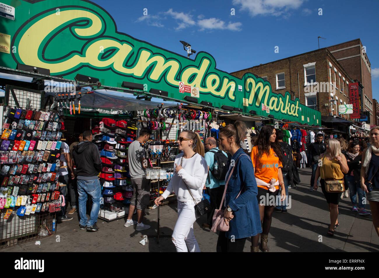 Marché de Camden à Londres Banque D'Images