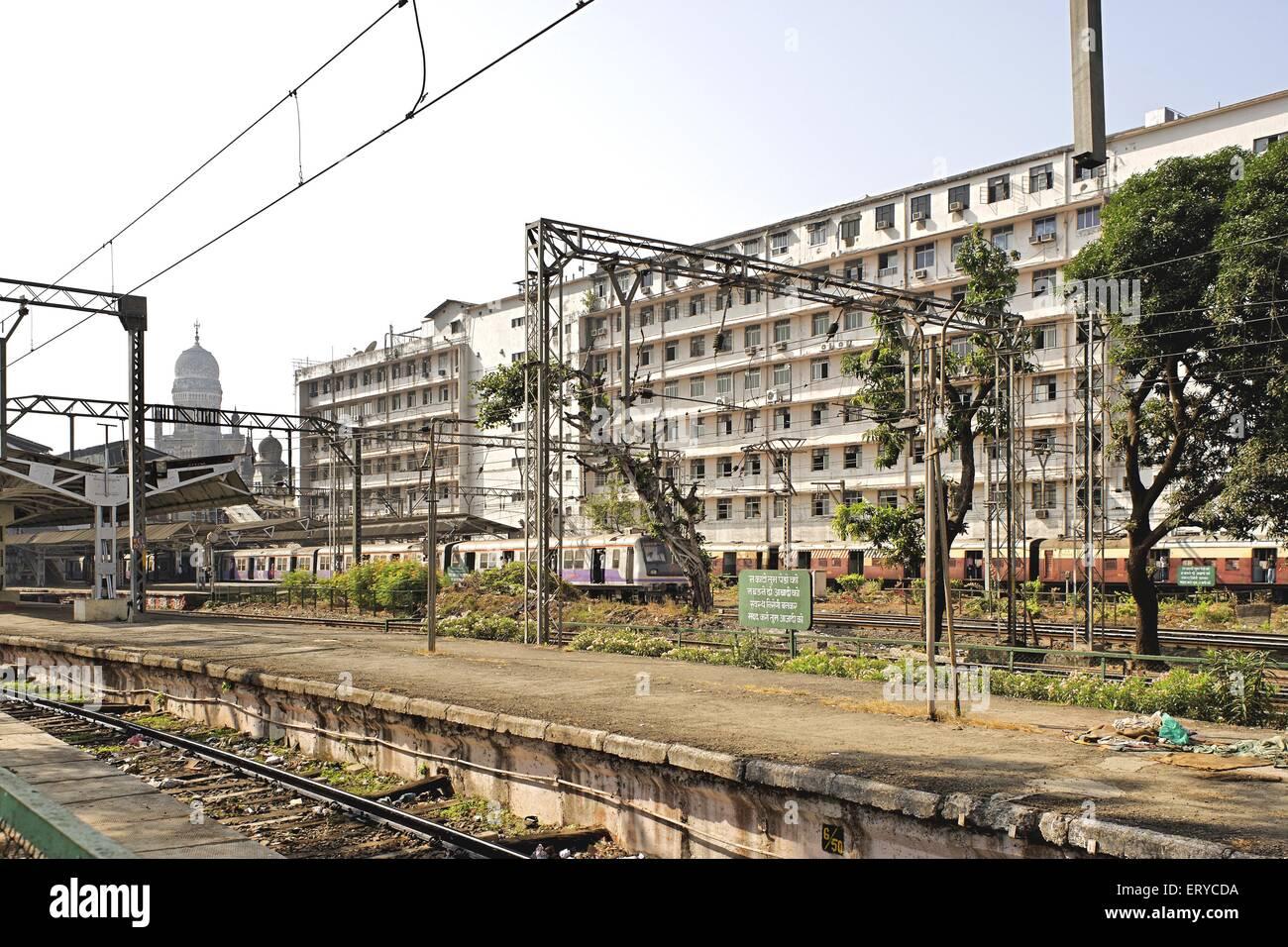 Carte postale d'heritage Victoria Terminus; Bombay Mumbai Maharashtra; Inde; Photo Stock