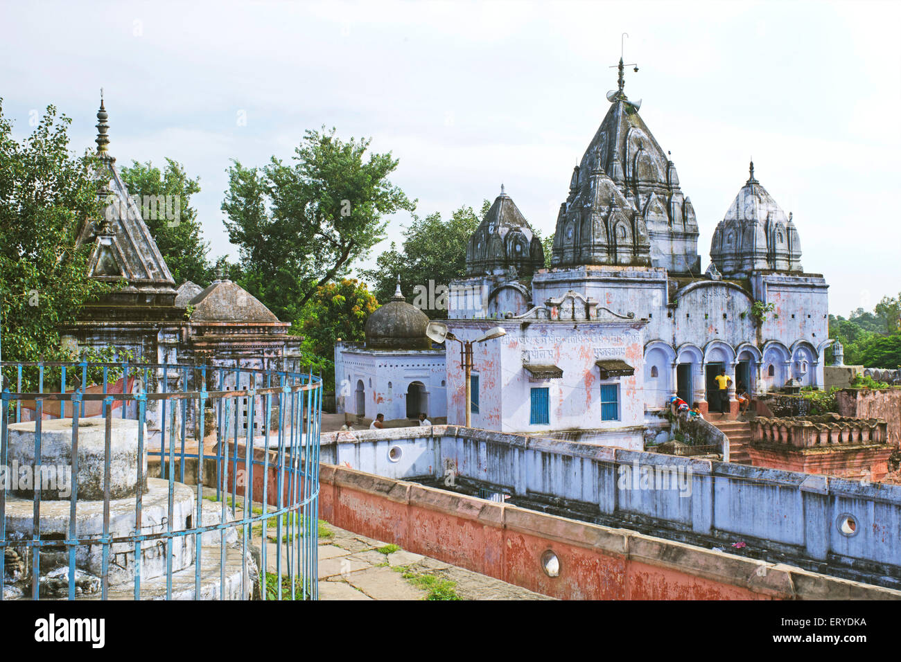 Hot spring Brahm Kund Jain temple Rajgir Bihar en Inde Photo Stock