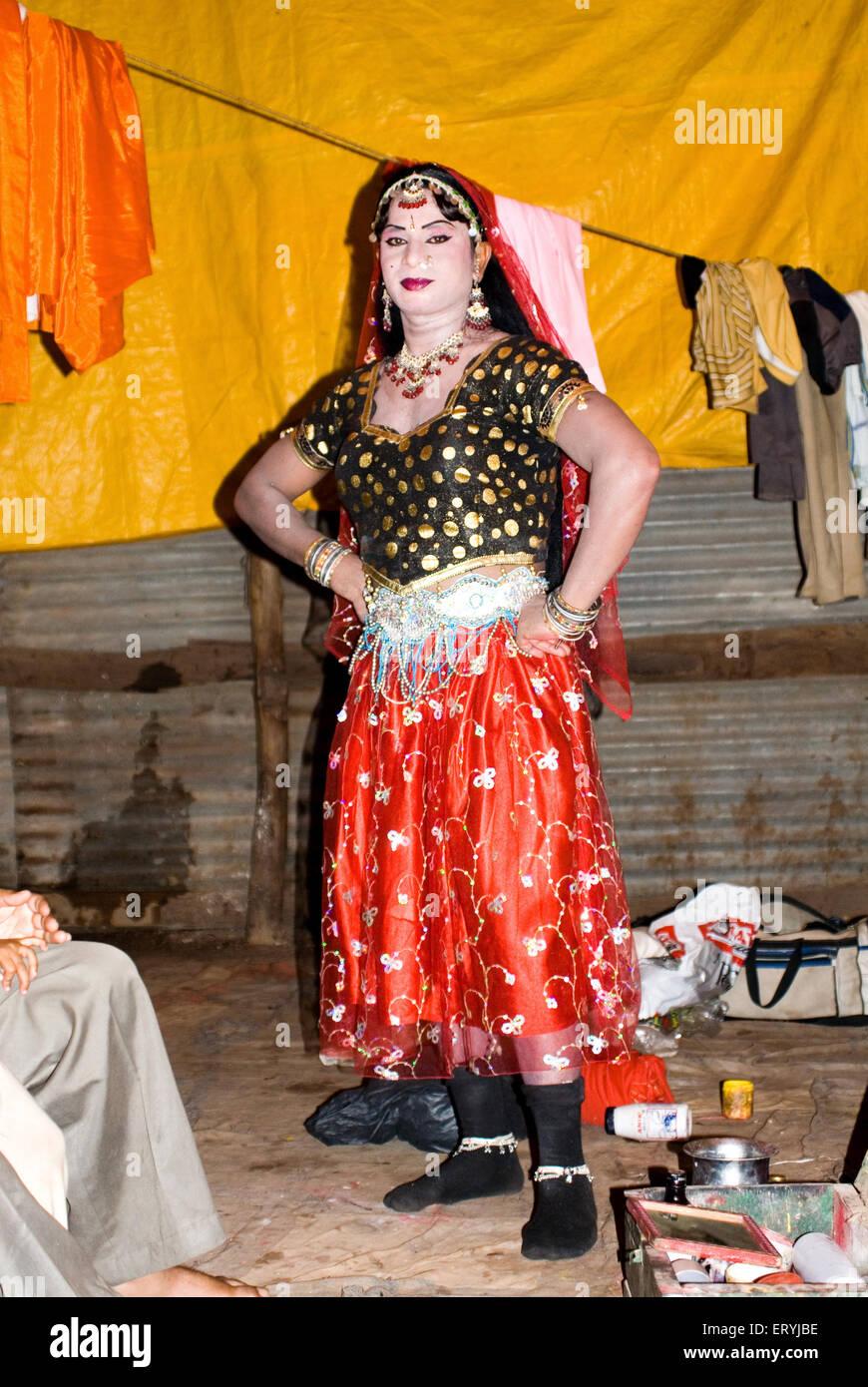 Dans l'artiste masculin de l'Inde; caractère ramlila PAS MR Photo Stock