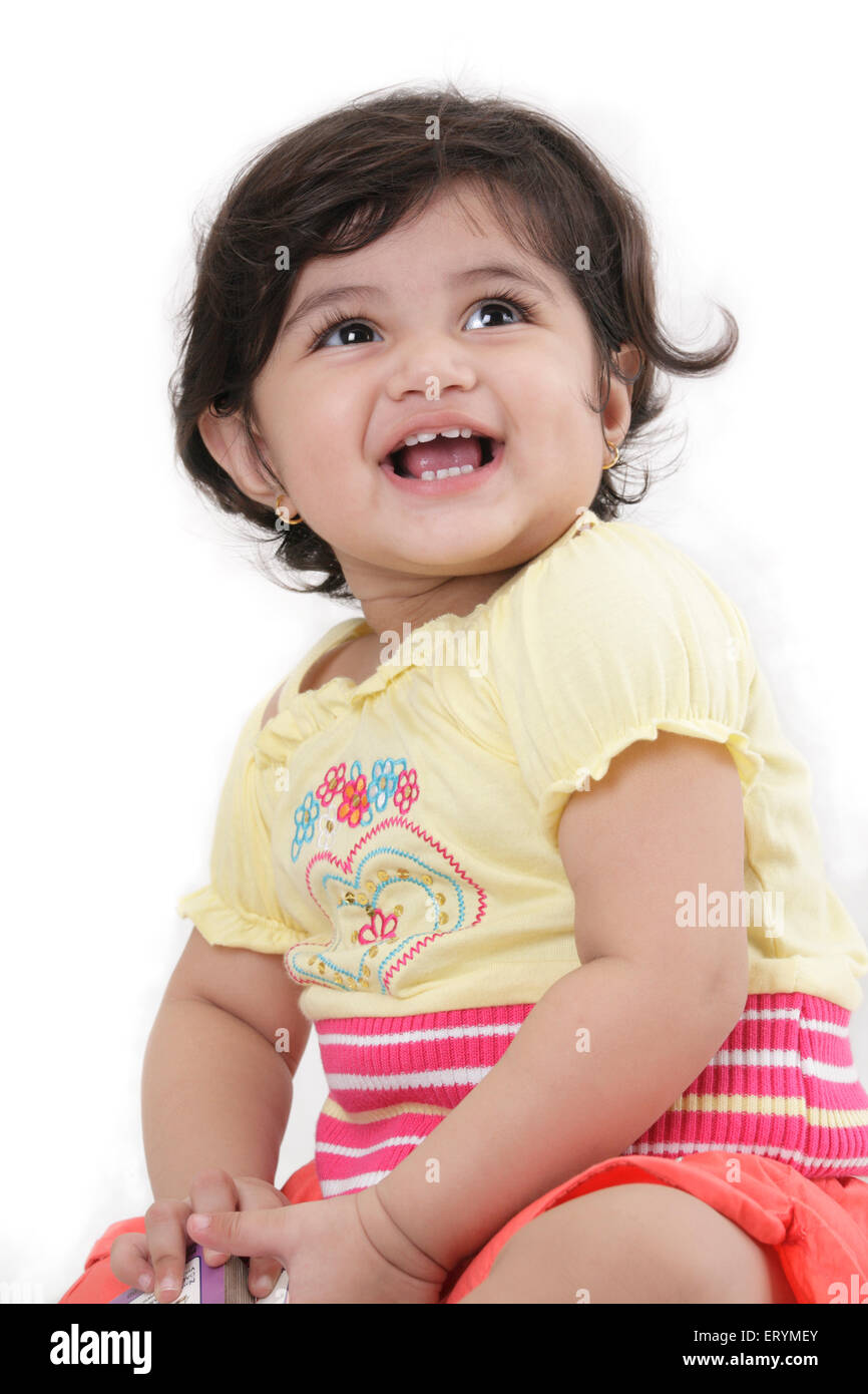 Quinze mois baby girl laughing M.# 743S Photo Stock