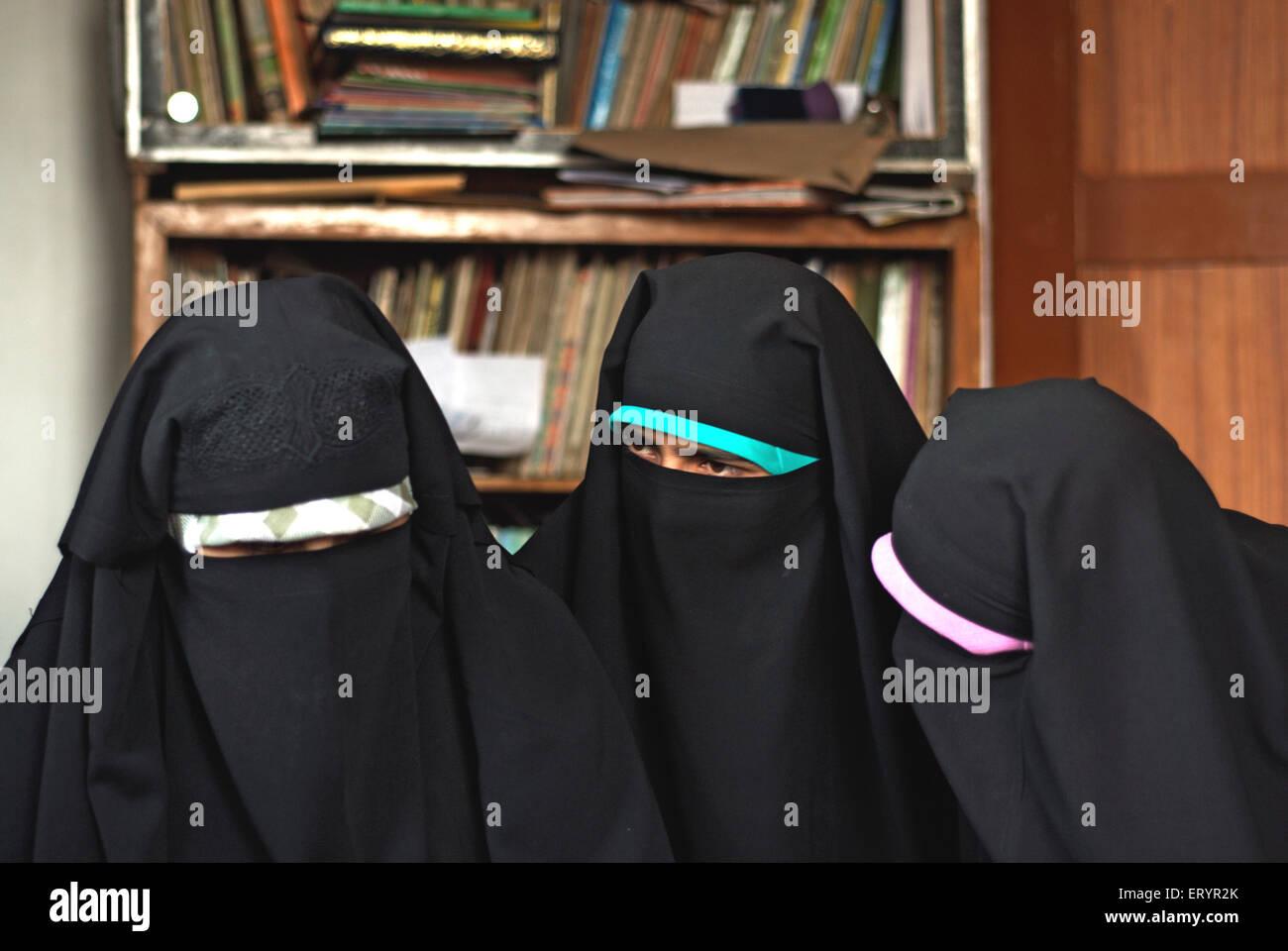 Membres et sympathisants de dukhtaran e millat; Srinagar, Jammu-et-Cachemire; Inde; 4 Juillet Photo Stock
