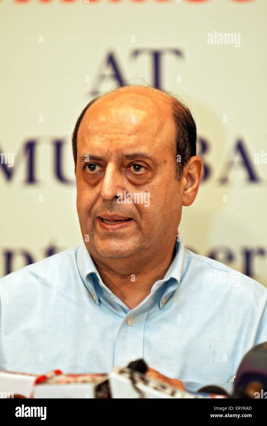 Commissaire aux élections principal navin Chawla; Inde 9 septembre 2009 NOMR Photo Stock