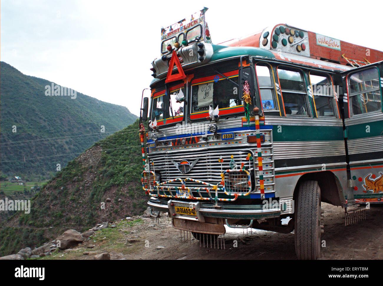 Transport de l'État; bus; Uri Jammu-et-Cachemire en Inde; PAS DE MR 7 Avril 2008 Photo Stock