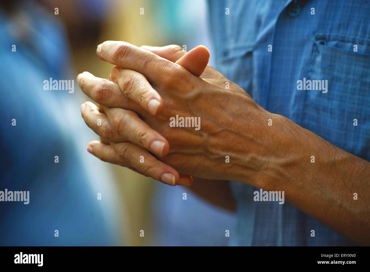 Pilgrim adorant ratha yatra à Mahesh; Calcutta Kolkata; l'ouest du Bengale en Inde; Photo Stock