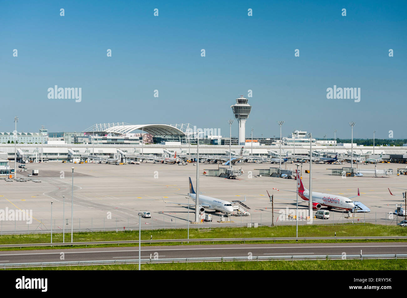 L'aéroport de Munich - Allemagne Photo Stock