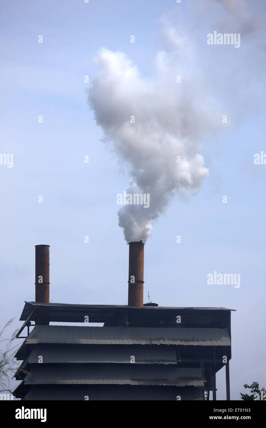L'environnement de la pollution industrielle Photo Stock