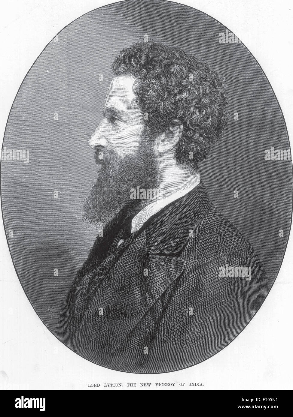 Portraits lithographiques; lord Lytton; le nouveau vice-roi de l'Inde PAS DE MR Banque D'Images
