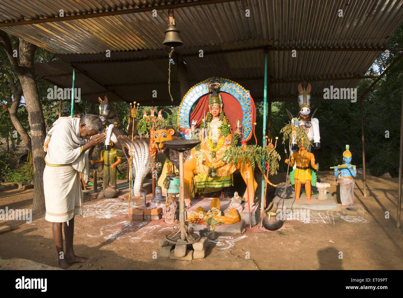 Près de Temple Guardian; Thiruvanamalaï Tamil nadu Inde; Photo Stock