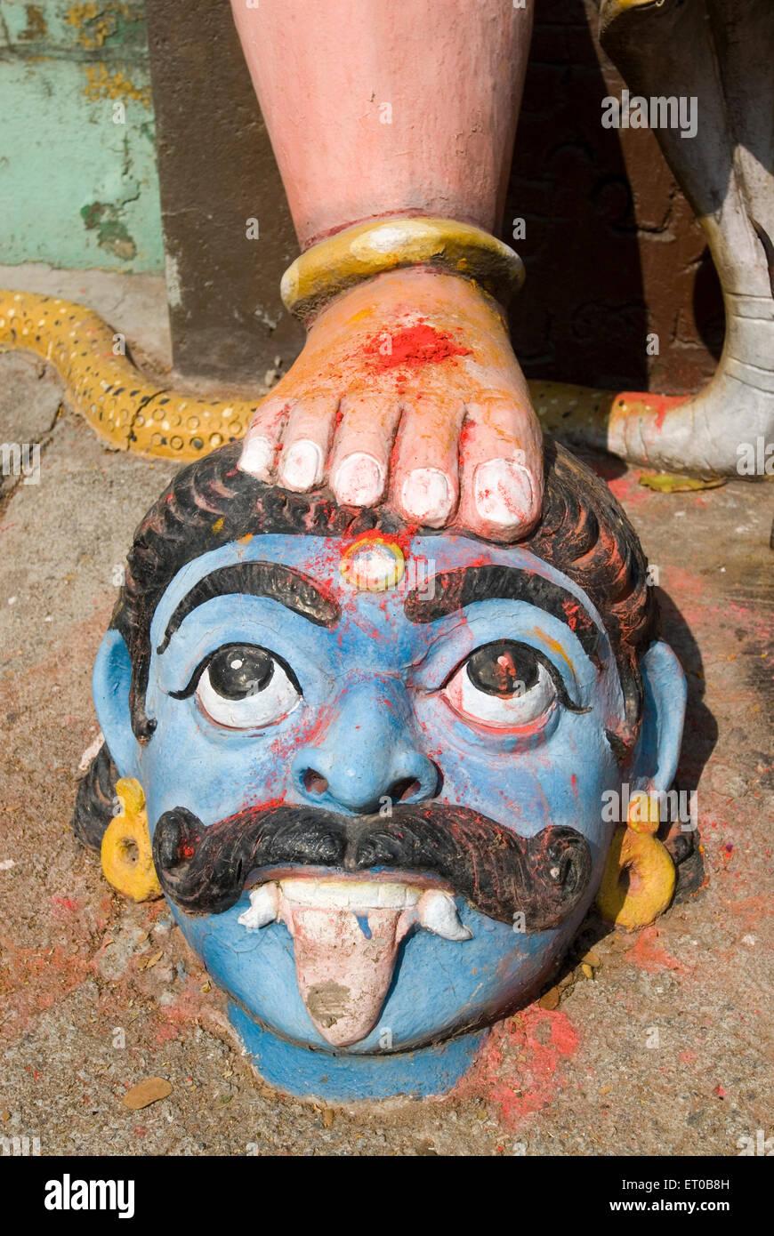 Temple Guardian Village Muniappan Dharmapuri au Tamil Nadu; Inde; Photo Stock