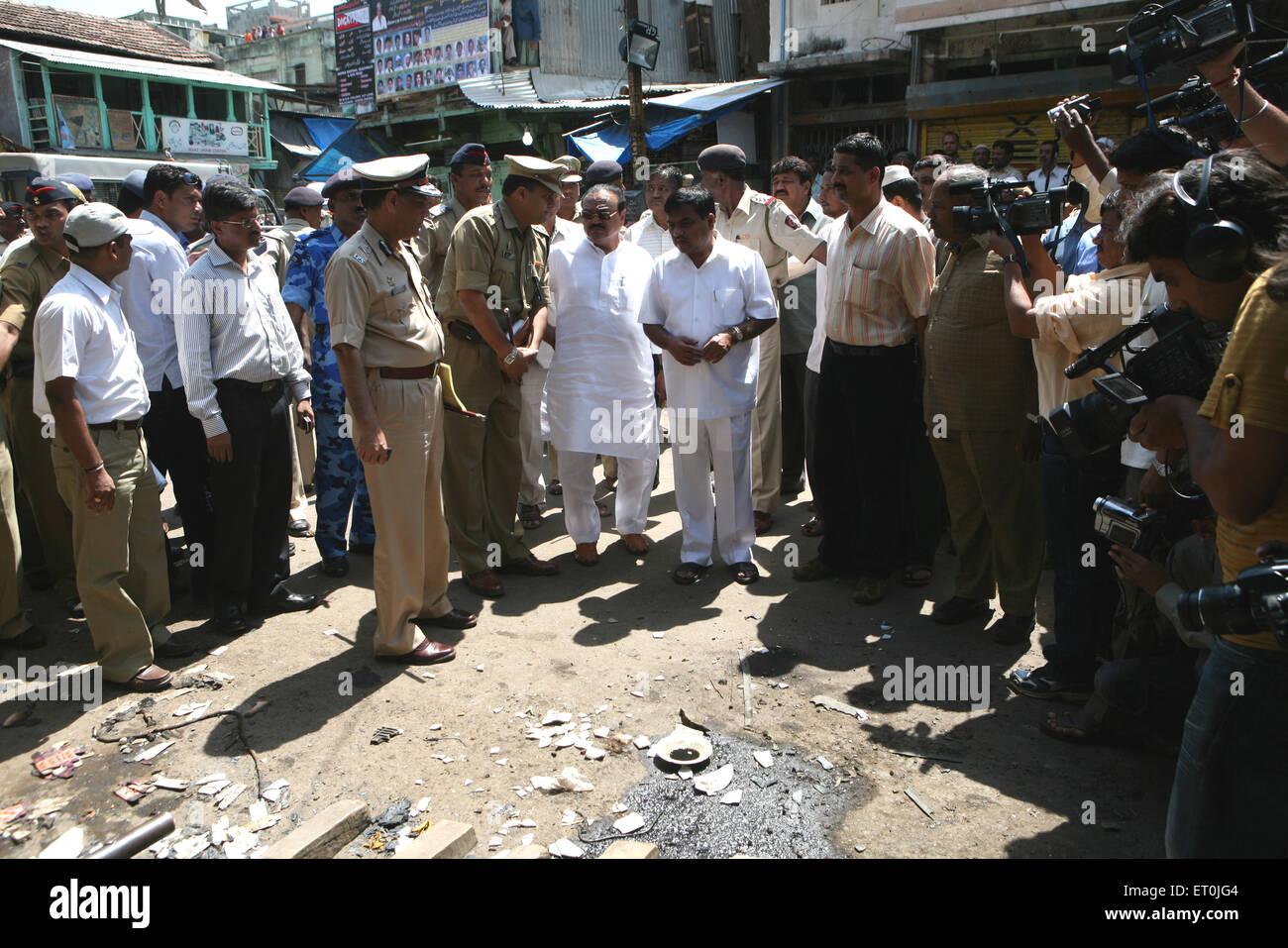 Guardian ministre de M. Chhagan Bhujbal district de Nasik bombe rocked Malegaon 29 Septembre 2008 Photo Stock