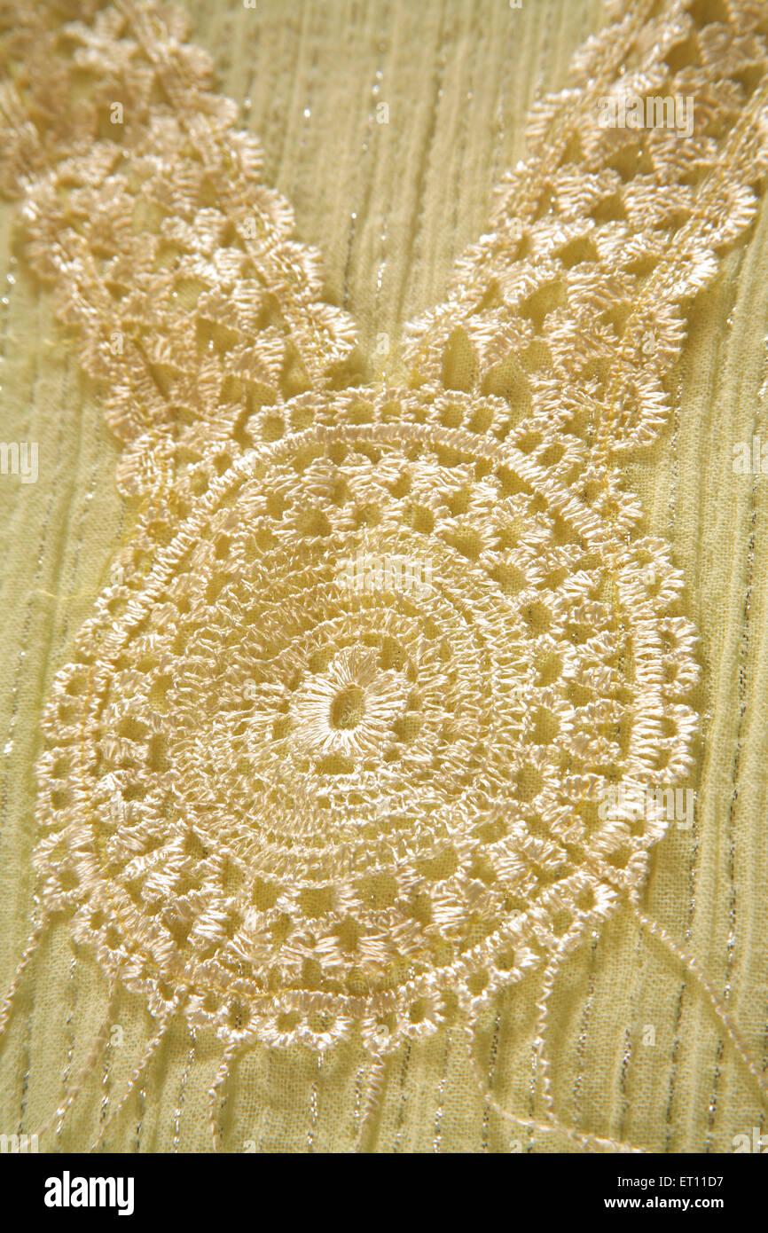 Tissu coton tissu art de la broderie Photo Stock