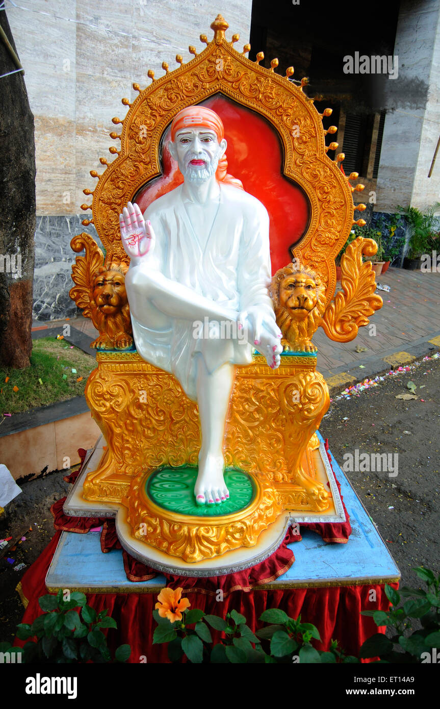 Ke Shirdi Sai Baba sur route Photo Stock