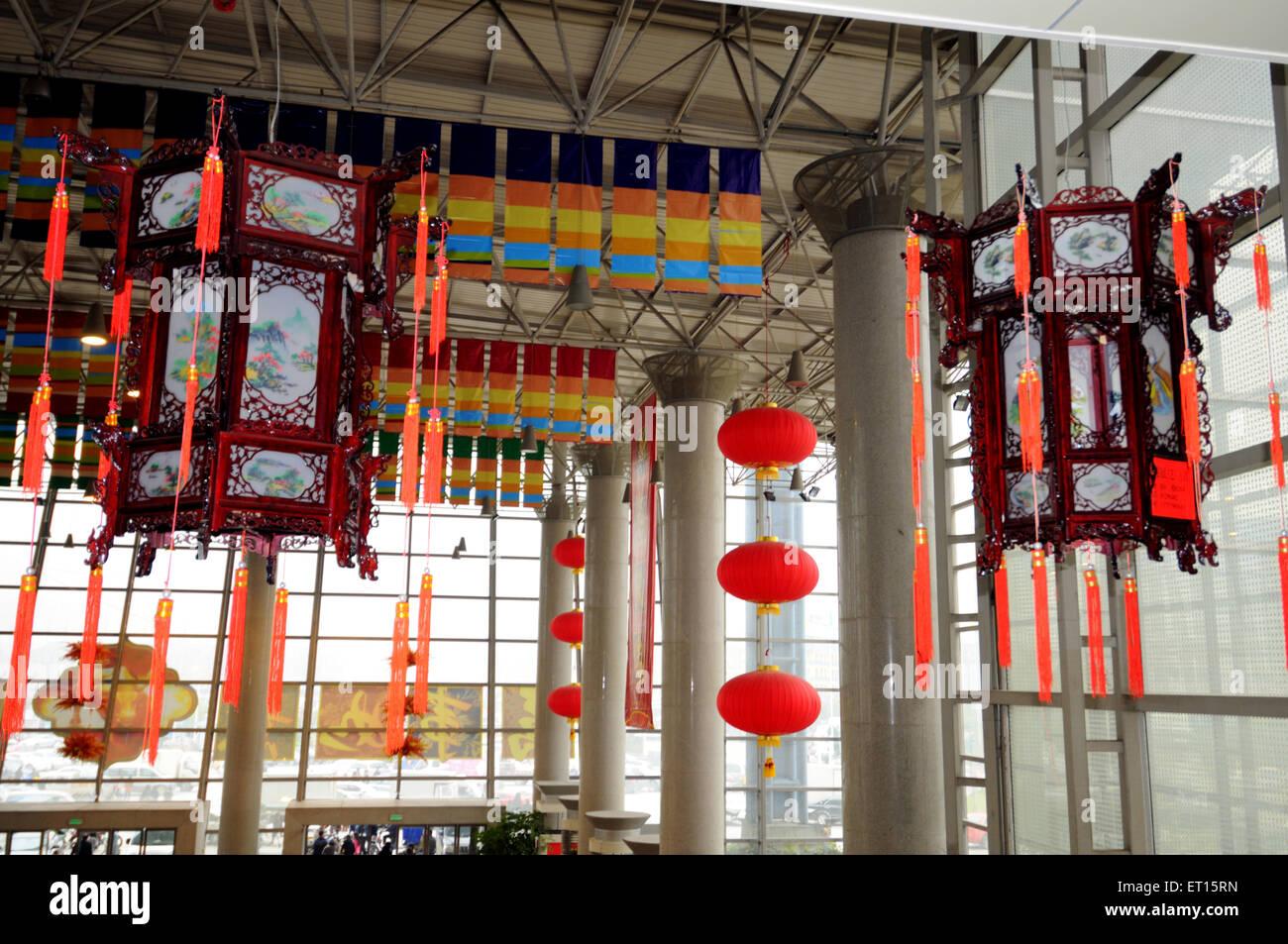 Lanternes chinoises; Yiwu Chine; Photo Stock
