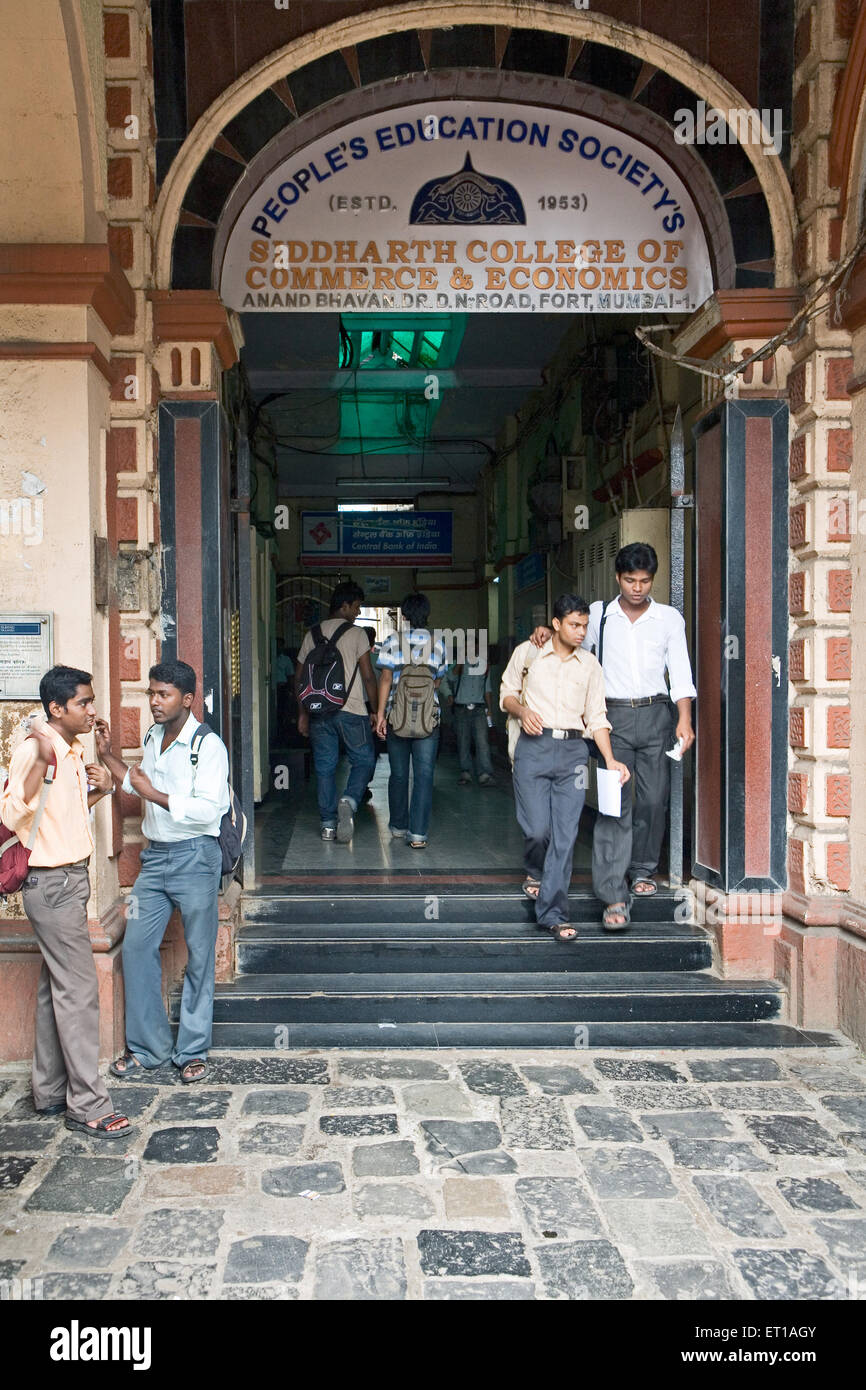 Siddharth College of Commerce et Économie à Mumbai Maharashtra Photo Stock