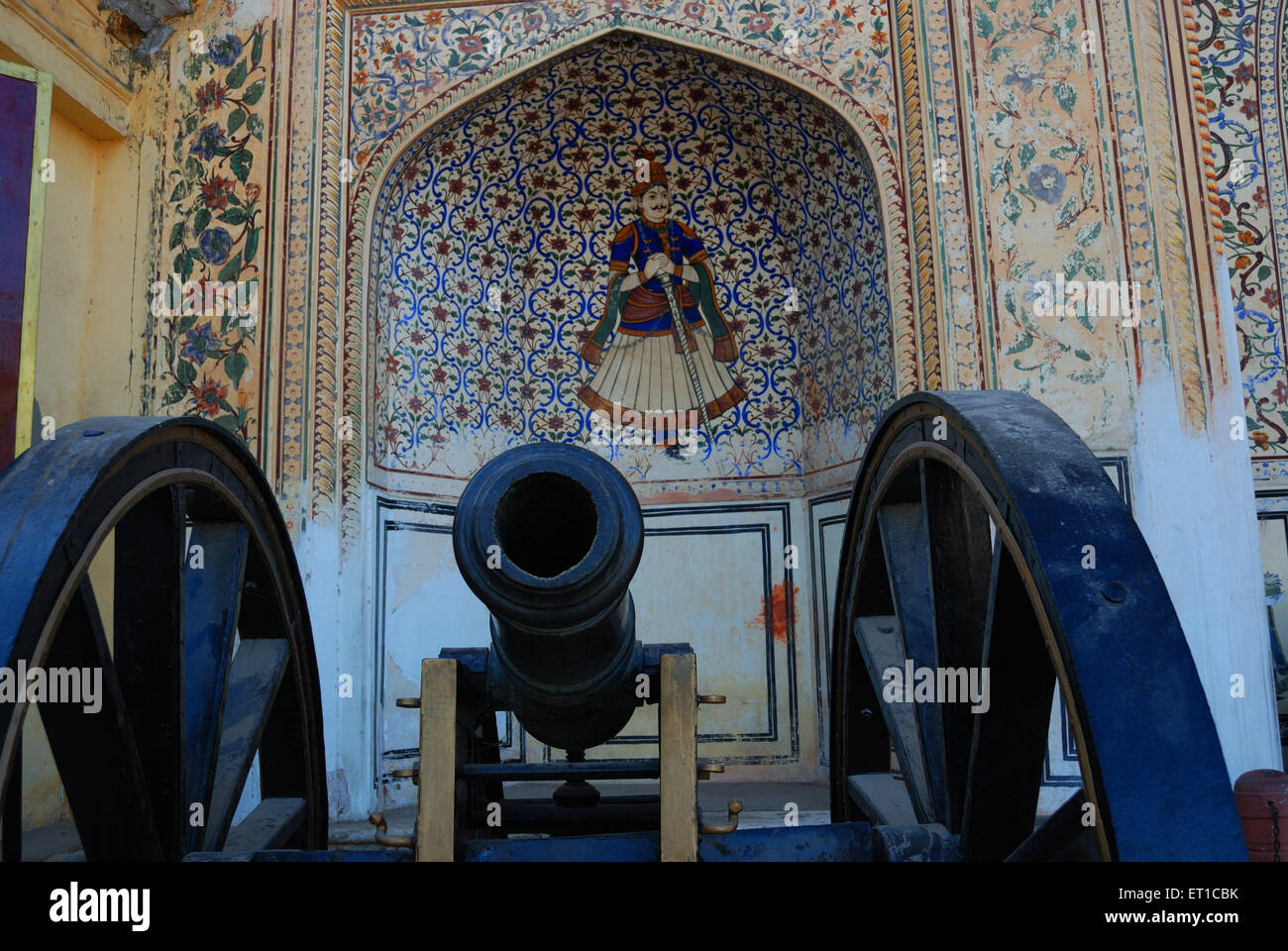 Cannon city palace Jaipur Rajasthan Inde Asie Photo Stock