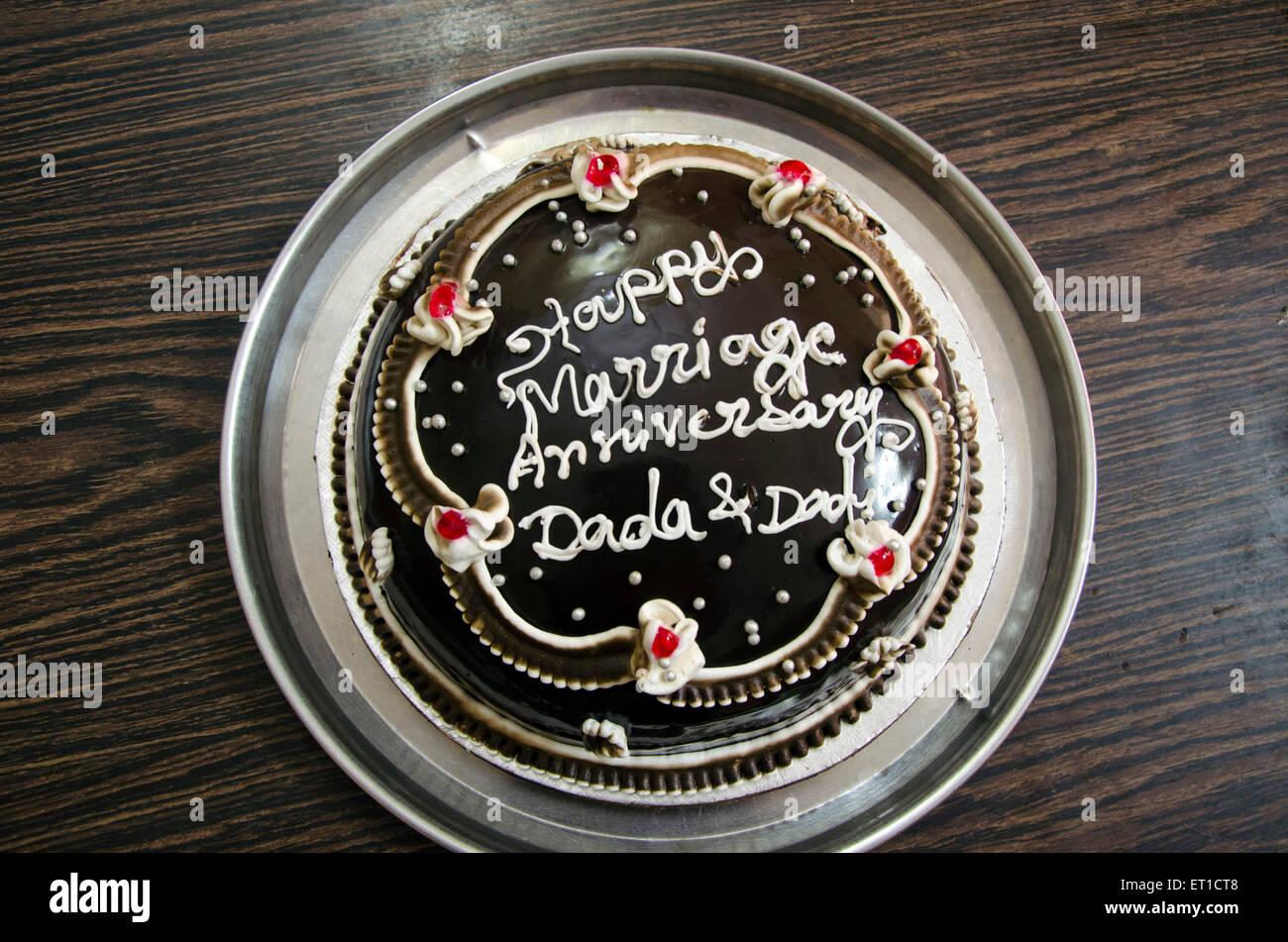 Gâteau d'anniversaire de mariage dans la région de Jodhpur au Rajasthan Inde Asie Photo Stock
