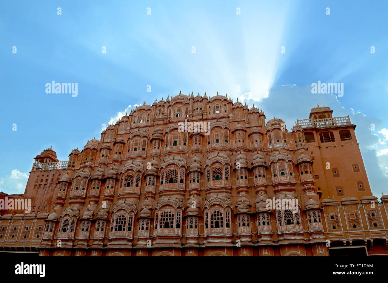 Inde Rajasthan Jaipur Hawamahal Photo Stock
