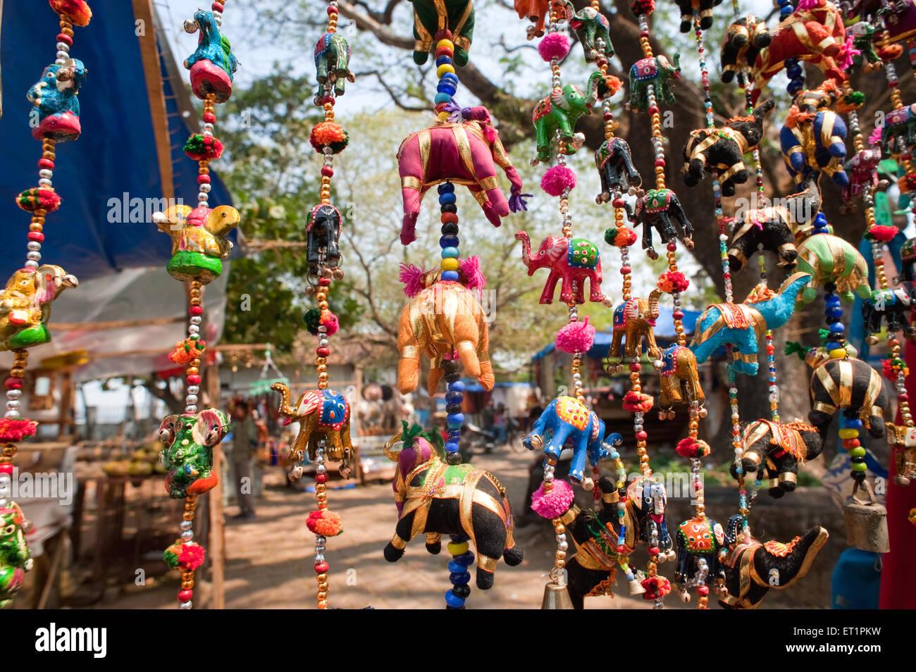 Jouets en tissu; suspension; Inde Kerala Photo Stock