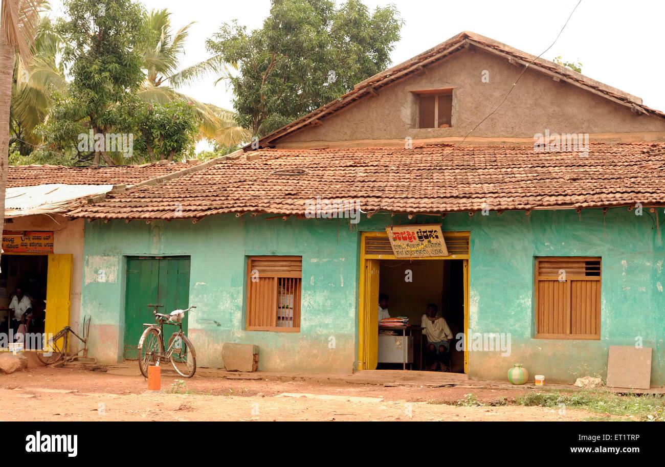 Vieille maison à dandeli à Karnataka Inde Asie Photo Stock