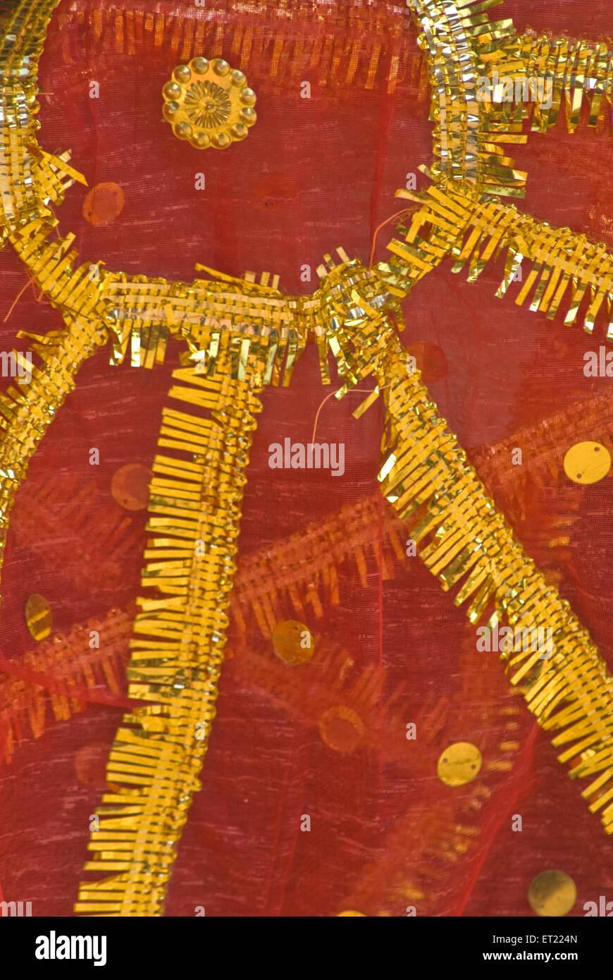 Morceau de tissu rouge Pune Maharashtra;;; l'Inde 2008 Photo Stock