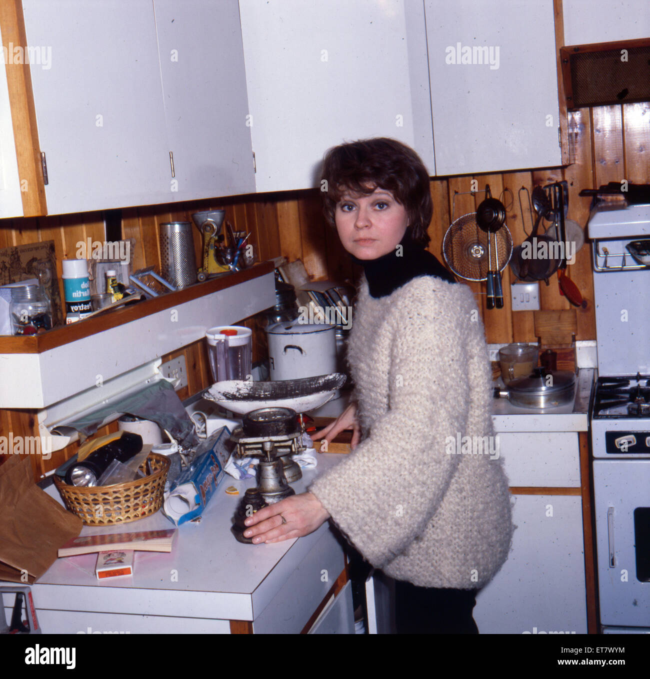 Prunella Scales, actrice, janvier 1980. Photo Stock