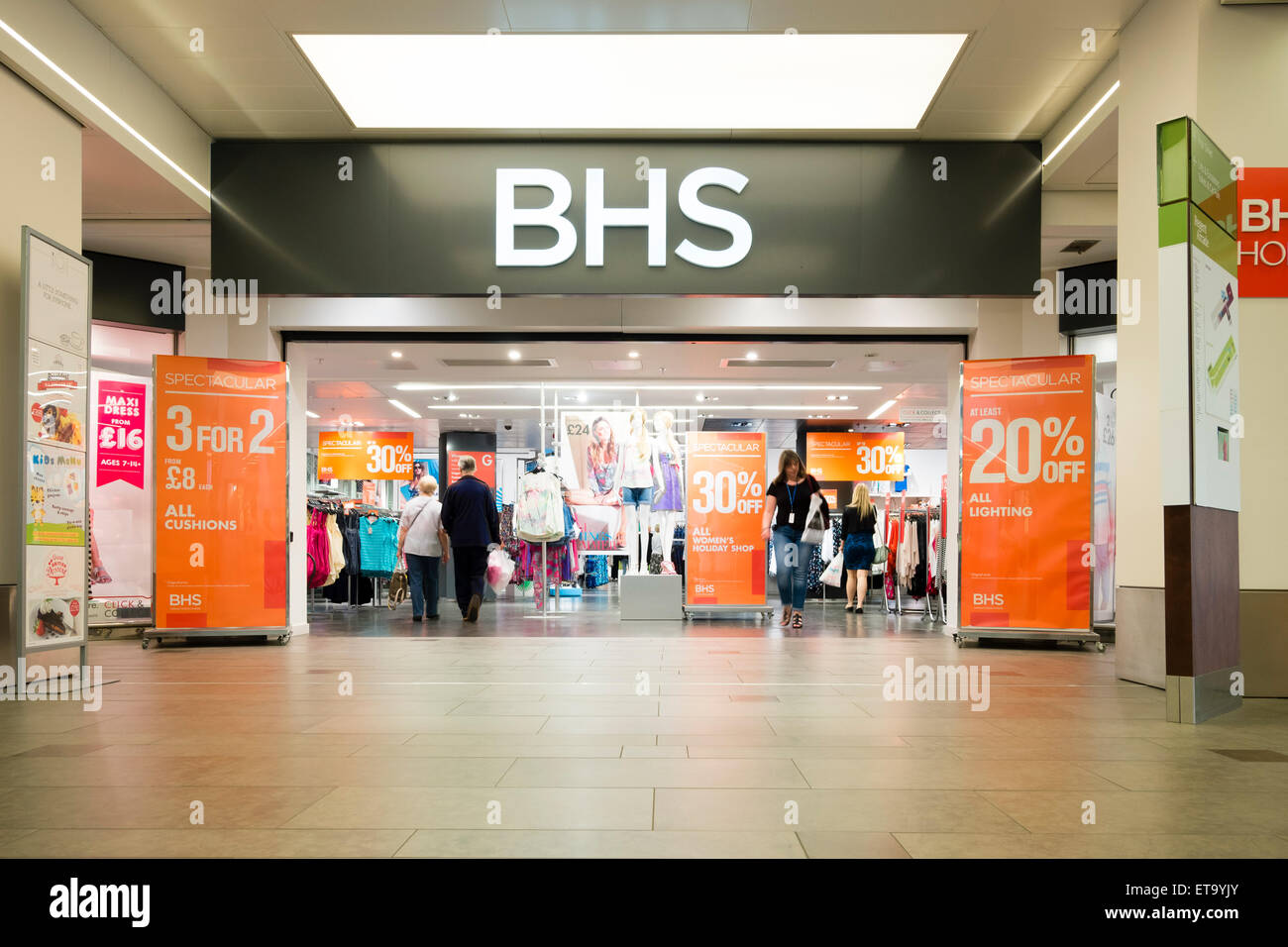 Magasin de BHS, UK. Photo Stock