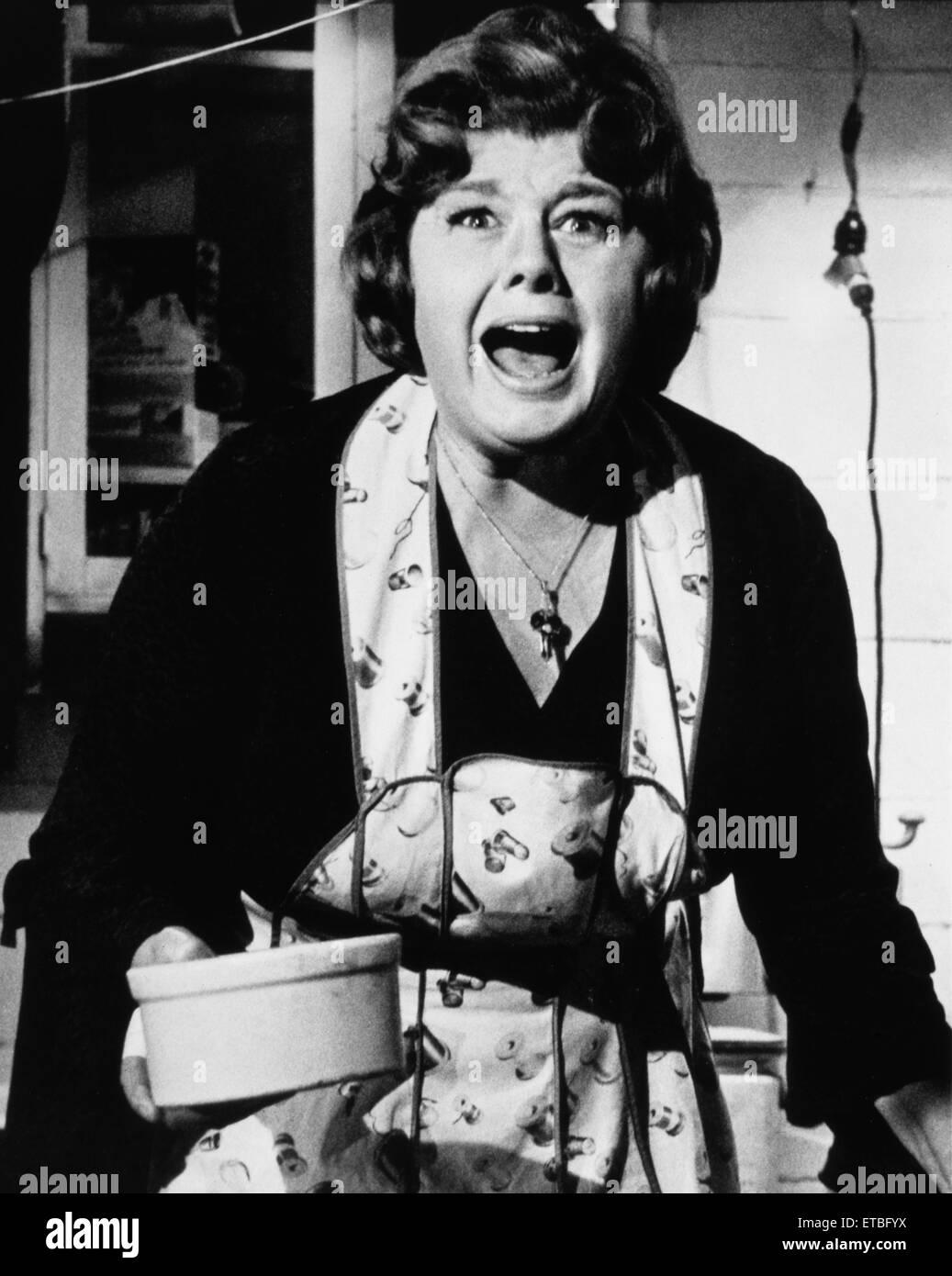 Shelley Winters, sur-ensemble du film 'Quelle est la question avec Helen?', 1971 Photo Stock