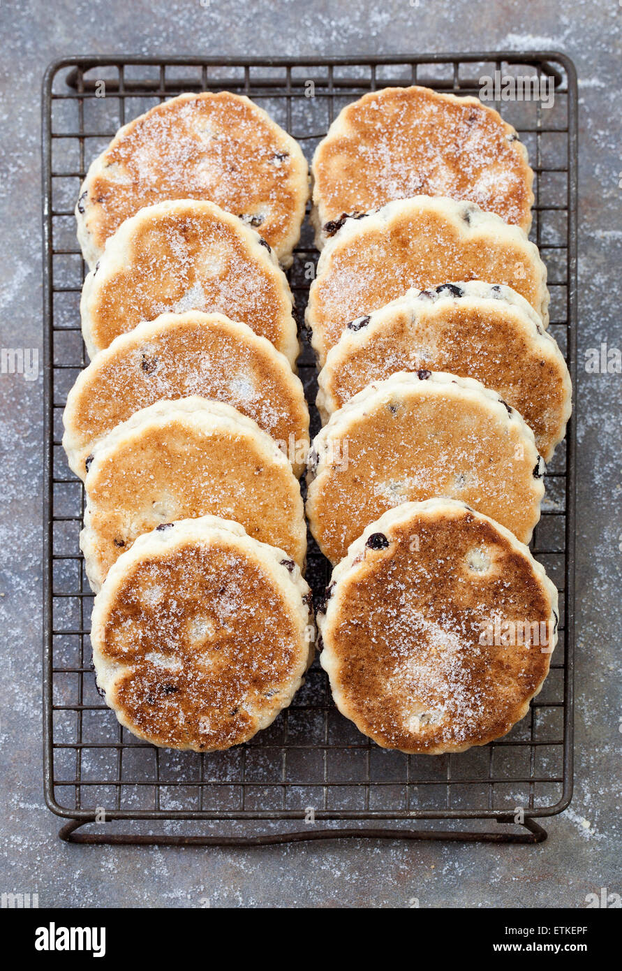 Gâteaux gallois ou Welshcakes (ou photos) - un aliment traditionnel délicatesse au Pays de Galles Photo Stock