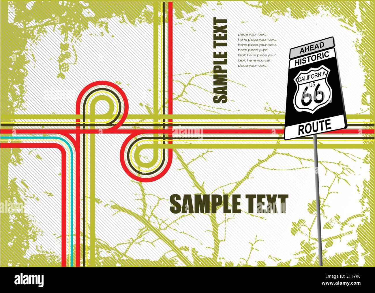 Couvrir pour brochure avec la sortie de l'image. Vector Photo Stock