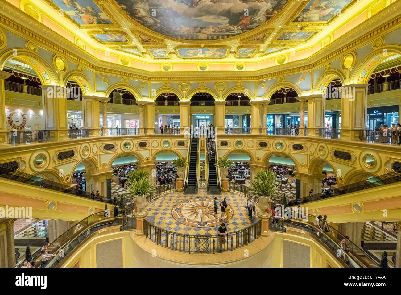 De l'intérieure Macao Venetian casino et hôtel à Macao Chine Photo Stock