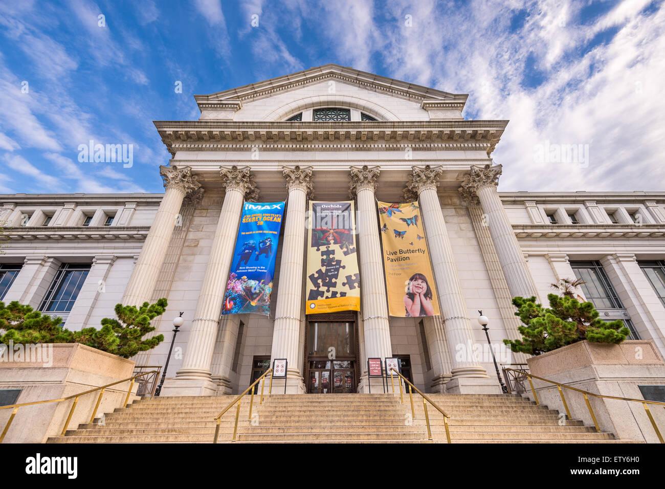 Le Musée National d'Histoire Naturelle à Washington DC. Photo Stock