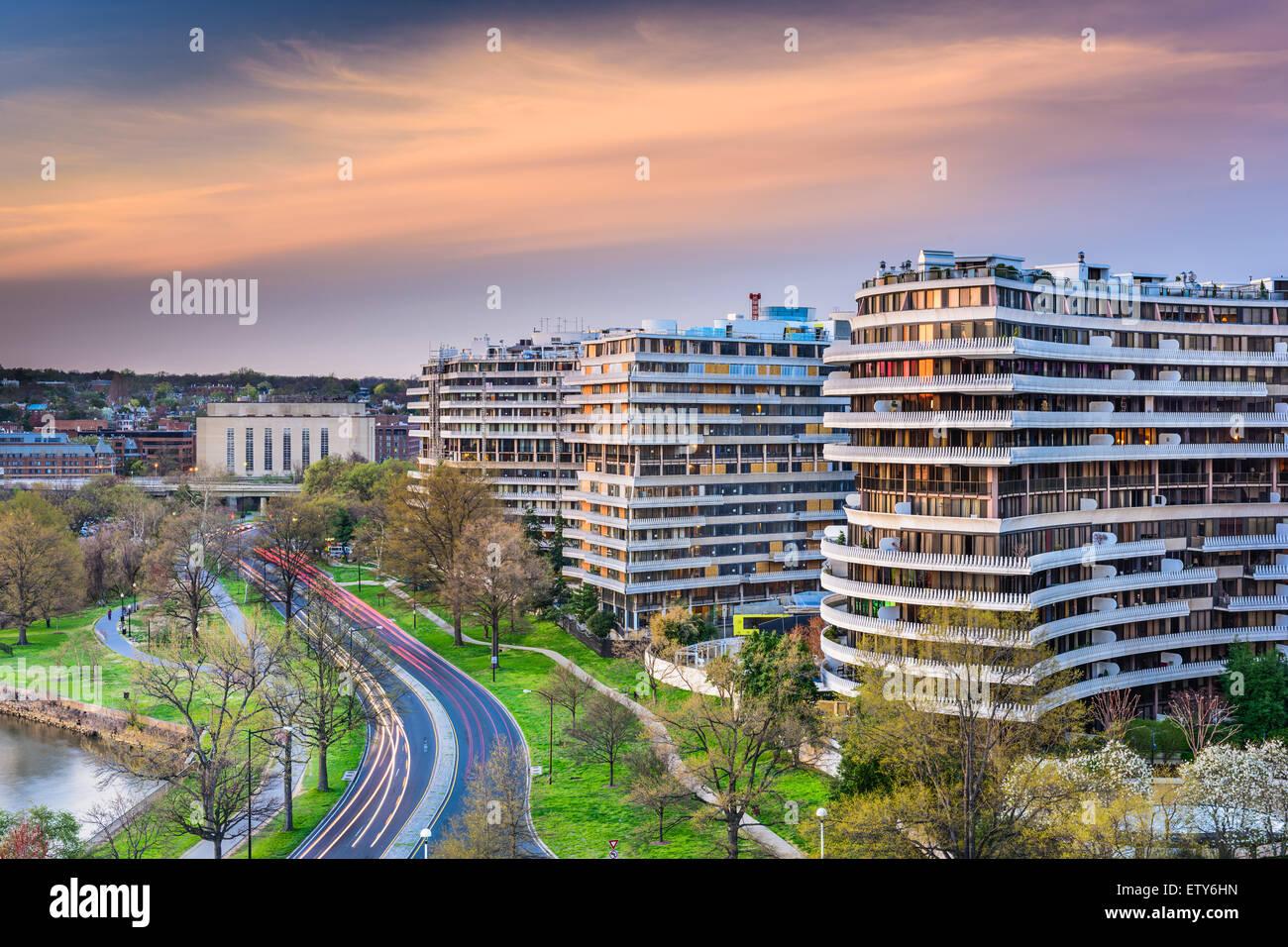 Washington, DC, USA paysage urbain dans le quartier de Foggy Bottom. Photo Stock