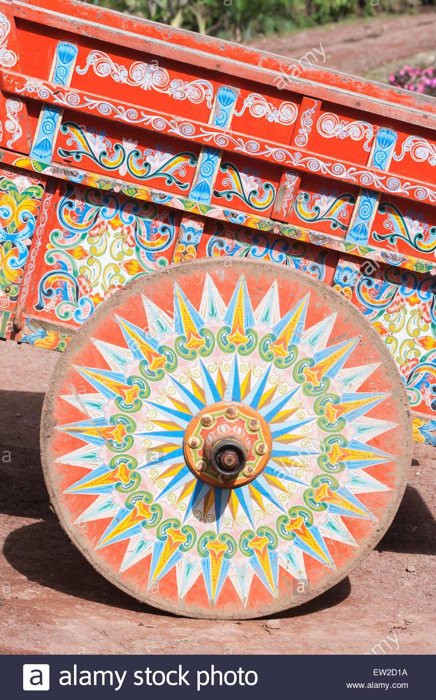 Decorative à boeufs, Costa Rica, Amérique Centrale Photo Stock