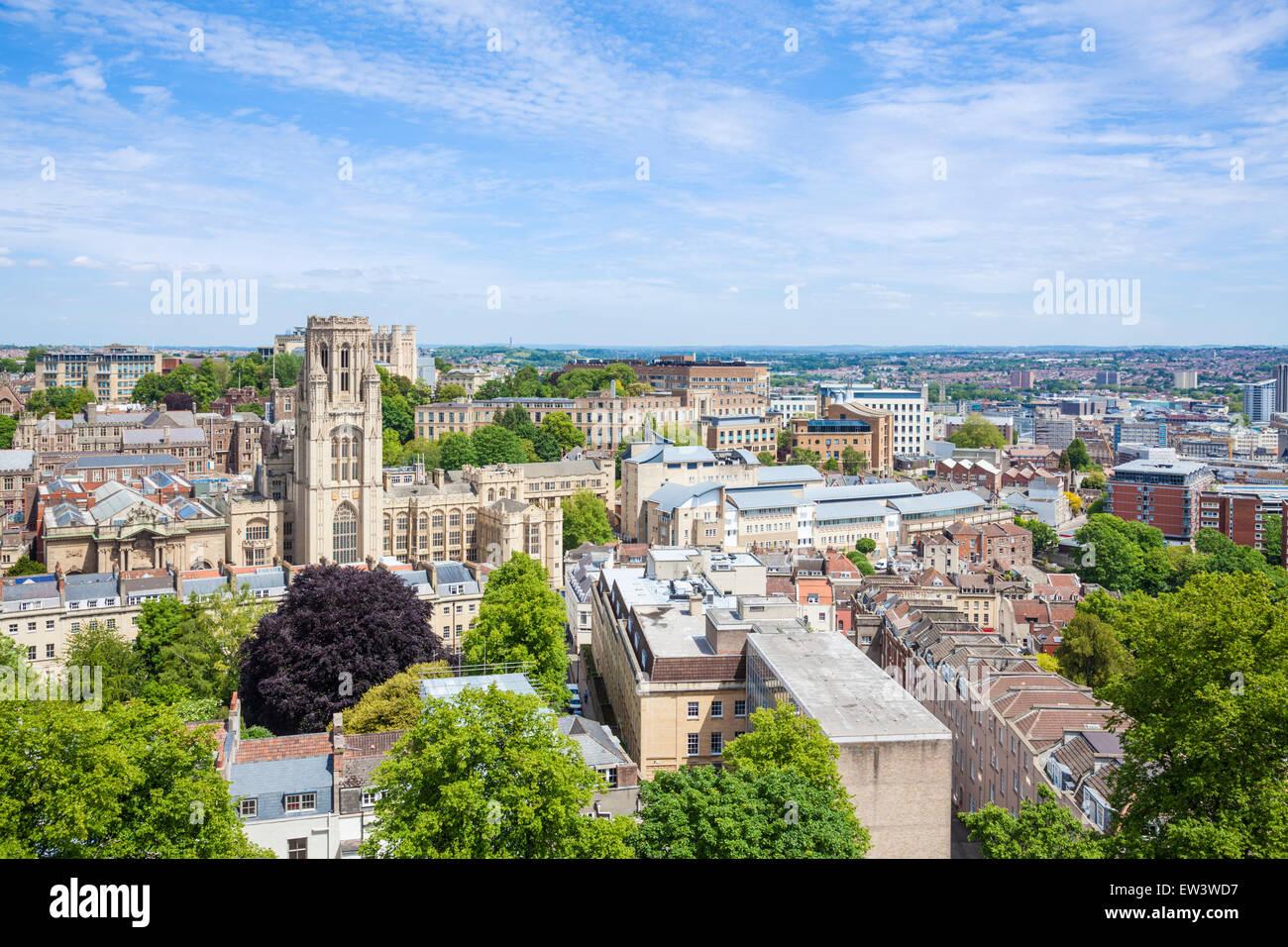 Les toits de l'Université de Bristol Bristol avec Wills Memorial Building en premier plan Bristol Avon England UK GB EU Europe Banque D'Images