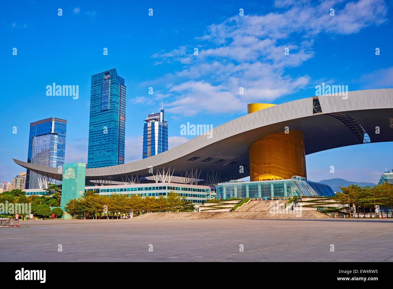 La Chine, la province du Guangdong, Shenzhen, Civic Square ou citoyens Square Photo Stock