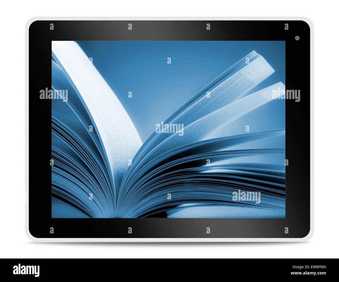 Livre Sur Ordinateur Ecran De Tablette La Lecture En Ligne