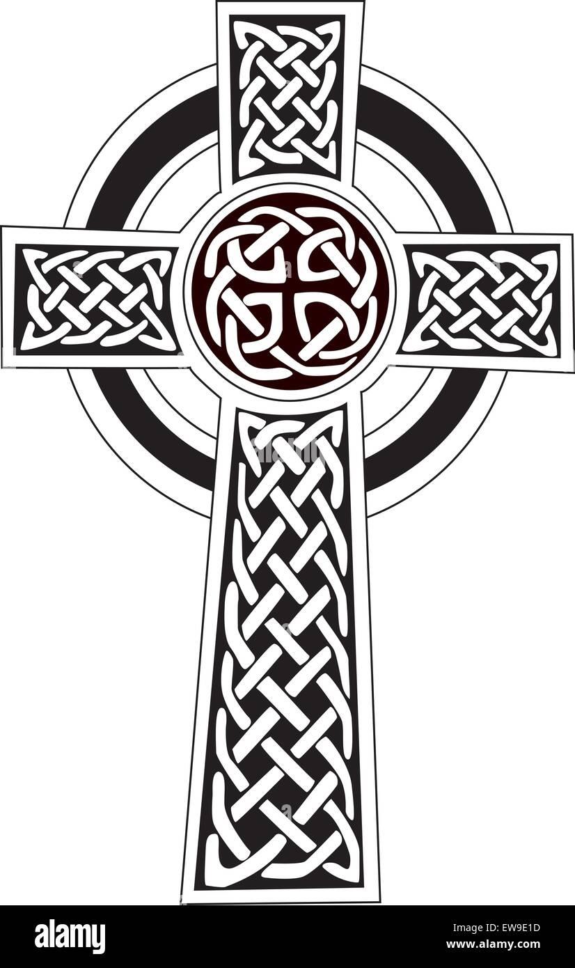Dessin Celtique symbole croix celtique - tatouage ou un dessin vecteurs et