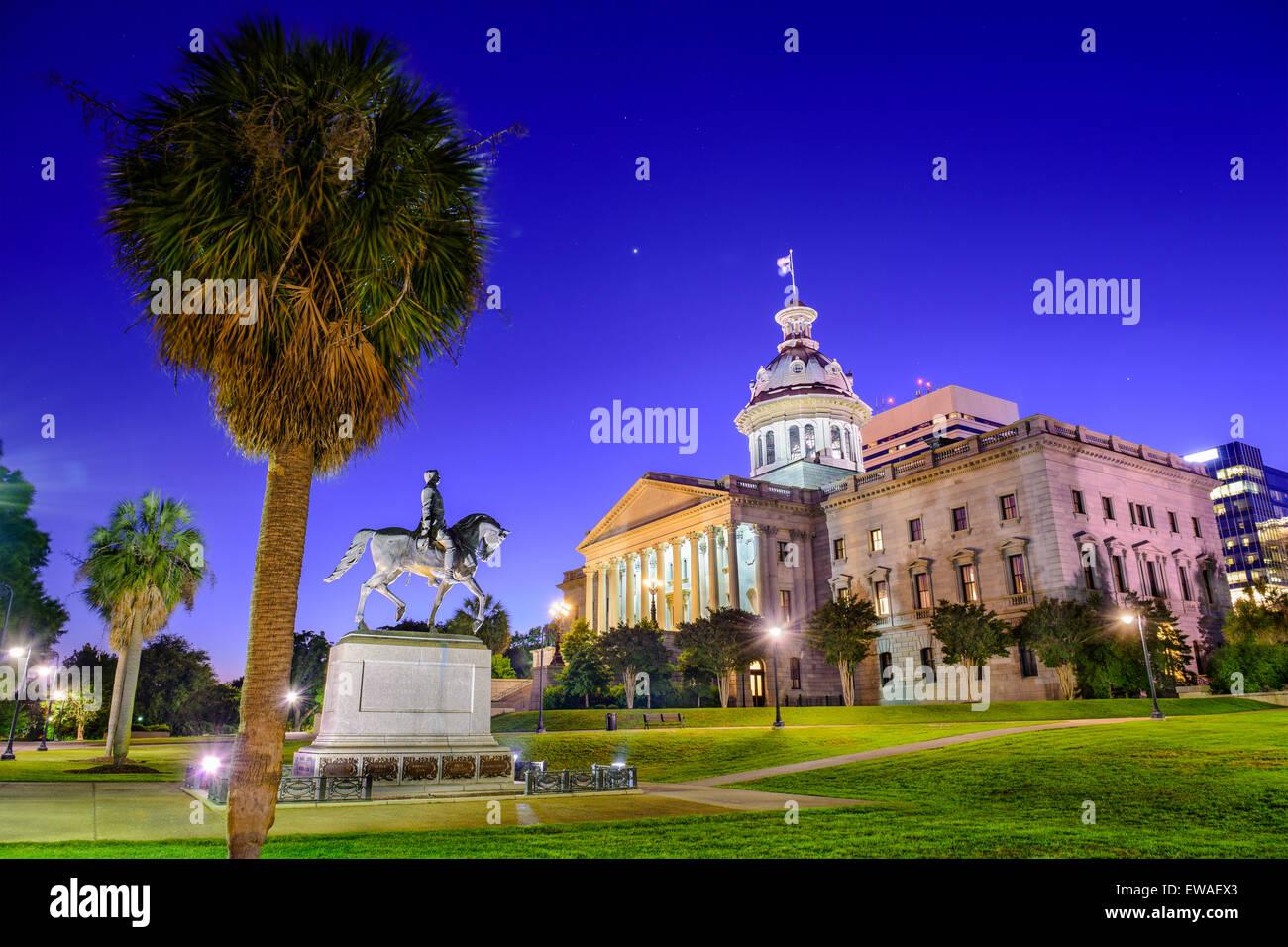 Columbia, Caroline du Sud, USA à la State House. Photo Stock